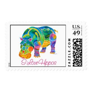 Most Popular I Love HIPPOS Stamp