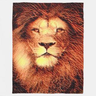 Most Popular Lion Fractal Fleece Blanket