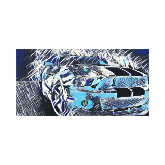 Most Popular Mustang Abstract Acrylic Medium Paint Canvas Print