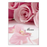 Most Popular Wedding Menu Pink Roses Greeting Cards