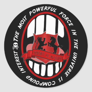 most powerful force in the universe classic round sticker