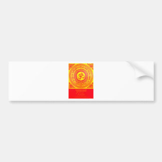 MOST SACRED HINDU GAYATRI MANTRA BUMPER STICKER