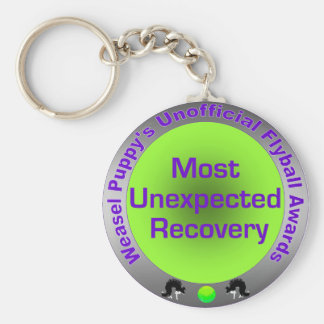 Most Unexpected Recovery Flyball Award Keychain