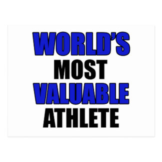 most valuable Athlete Postcard