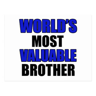most valuable brother postcard