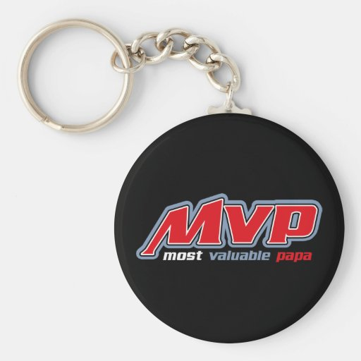 Most Valuable Papa Keychain