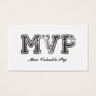 Most Valuable Pop – MVP Business Card