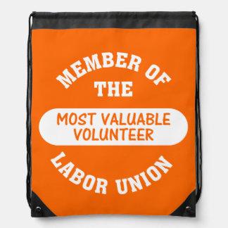 Most Valuable Volunteer Drawstring Bag