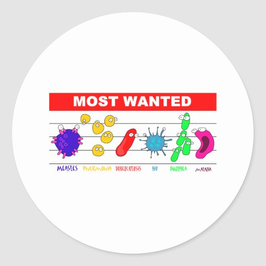 Most Wanted Classic Round Sticker