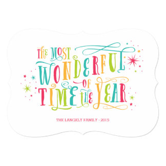 Most Wonderful Bright Colorful Holiday Card