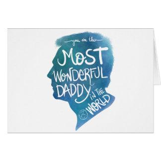 Most wonderful daddy card