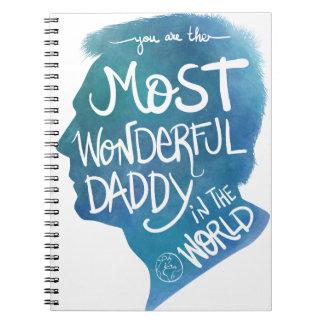 Most wonderful daddy spiral notebook