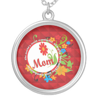 Most Wonderful Simply Incredible Fantastic Mom Silver Plated Necklace