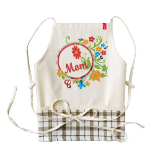 Most Wonderful Simply Incredible Fantastic Mom Zazzle HEART Apron