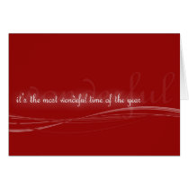 most wonderful time card