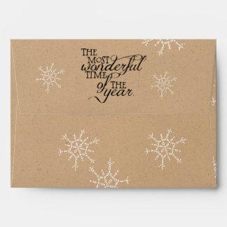 Most Wonderful Time Christmas Envelope