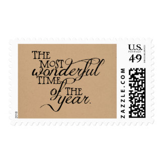 Most Wonderful Time Christmas Postage