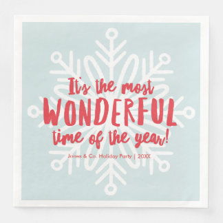 Most Wonderful Time Holiday Party Napkins