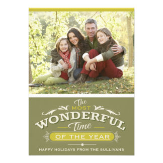 MOST WONDERFUL TIME OF THE YEAR HOLIDAY PHOTO CARD