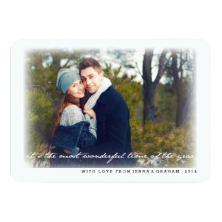Most Wonderful Time of the Year Photo Holiday Card Announcement