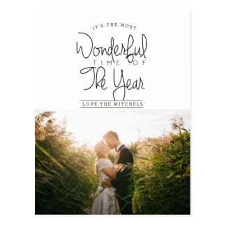 Most Wonderful Time Of Year | Holiday Photo Postcard