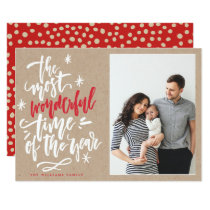 Most Wonderful Time of Year Kraft Photo Card