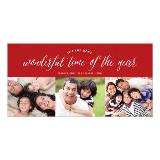 Most Wonderful Time Photo Collage Fun Holiday Card