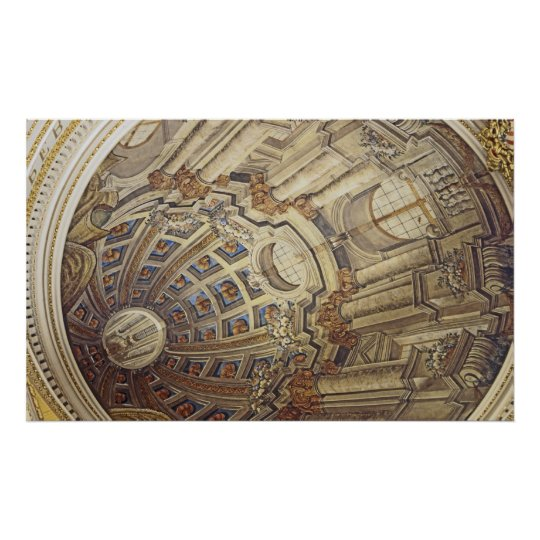 Mosta Rotunda (Malta) Ceiling Artwork Poster