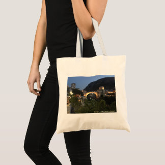 Mostar by night tote bag