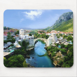 Mostar Old Town Mouse Pad