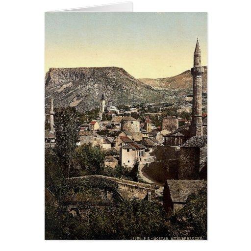 Mostar, puente de Muhlen, Herzegowina, Austro-Hung Tarjeta De Felicitación
