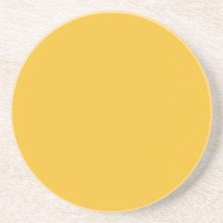 Mostaza amarilla posavasos personalizados