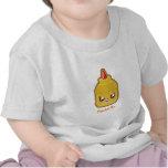 Mostaza de Kawaii Camisetas