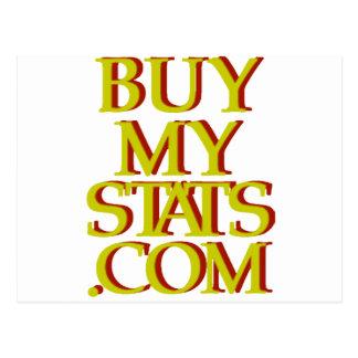 mostaza del logotipo de BuyMyStats.com 3D con la Postales