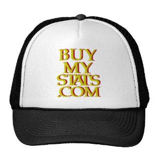 mostaza del logotipo de BuyMyStats.com 3D con la s Gorras