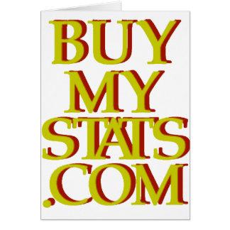 mostaza del logotipo de BuyMyStats.com 3D con la s Tarjeta De Felicitación