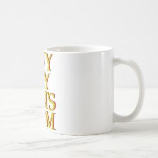 mostaza del logotipo de BuyMyStats.com 3D con la Taza De Café