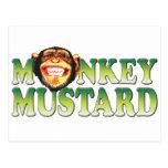 Mostaza del mono tarjetas postales