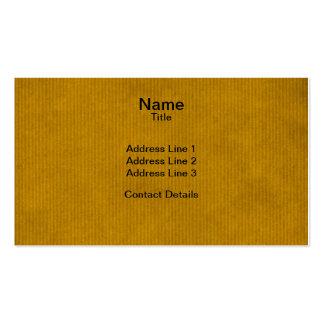 Mostaza fuerte explorada de la textura del papel tarjetas de visita