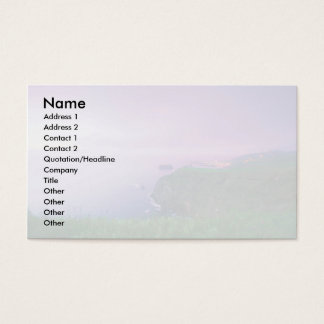 Mosteiros coastal sunset business card