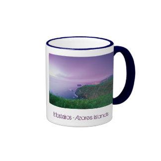 Mosteiros coastal sunset ringer coffee mug