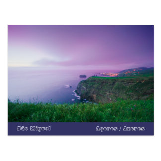 Mosteiros coastal sunset postcard