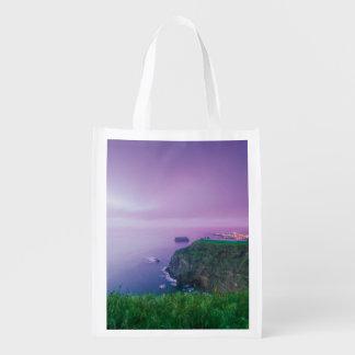 Mosteiros coastal sunset reusable grocery bag