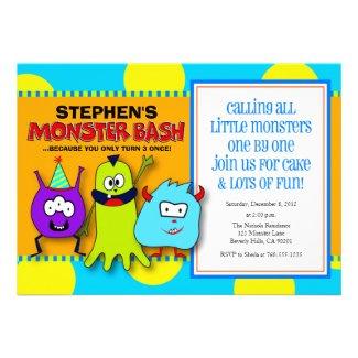 Moster Bash Birthday Invitations