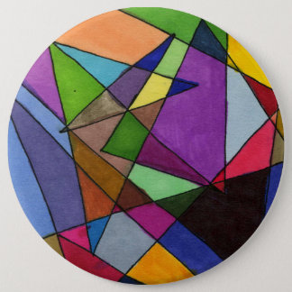 """""""Mostly Acutes"""" Abstract Art Button"""