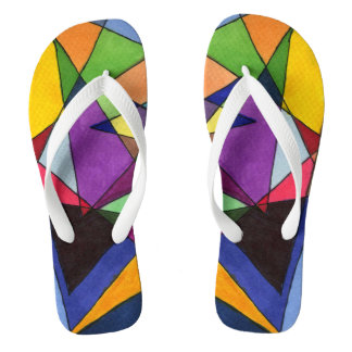 """""""Mostly Acutes"""" abstract flip flops. Flip Flops"""