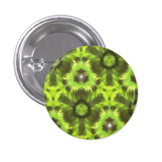 Mostly Green modern pattern 1 Inch Round Button