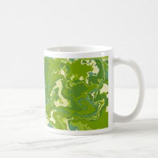 Mostly Green Squiggles Design Coffee Mug