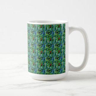 """Mostly Greens Tiled"" Abstract Design Mug"