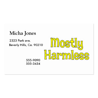 Mostly Harmless Business Card